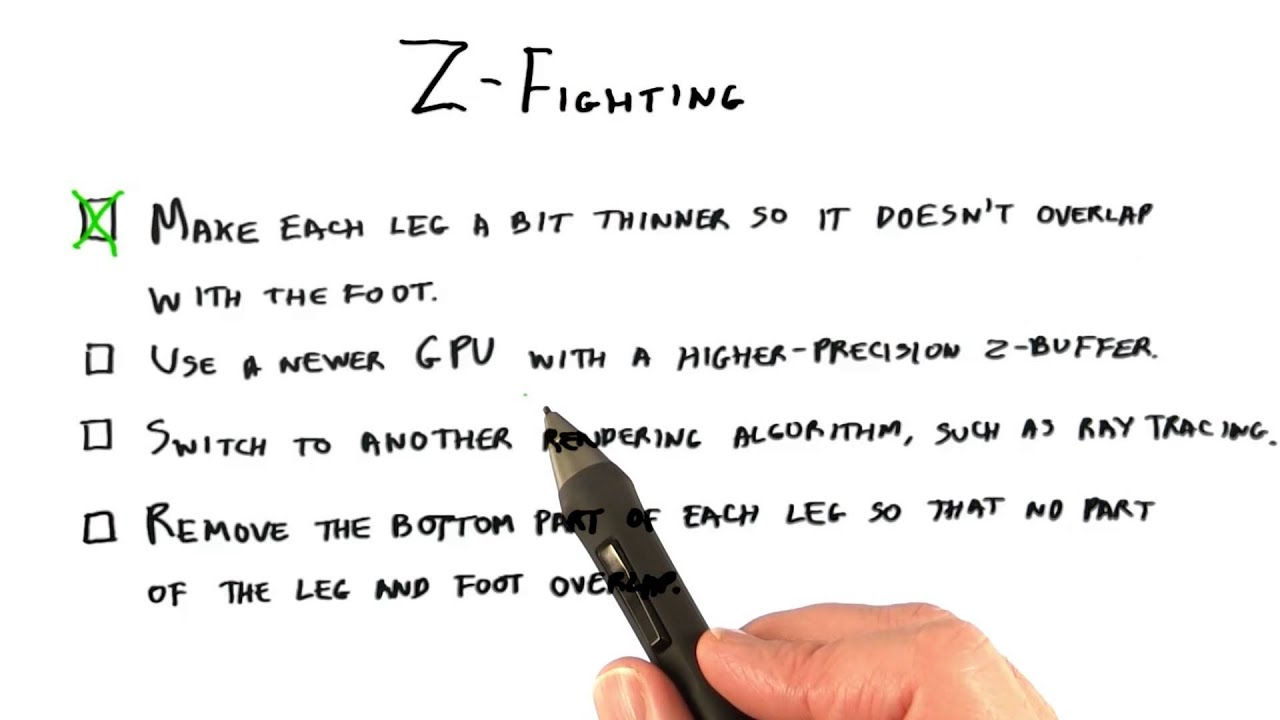 Z-Fighting - Interactive 3D Graphics