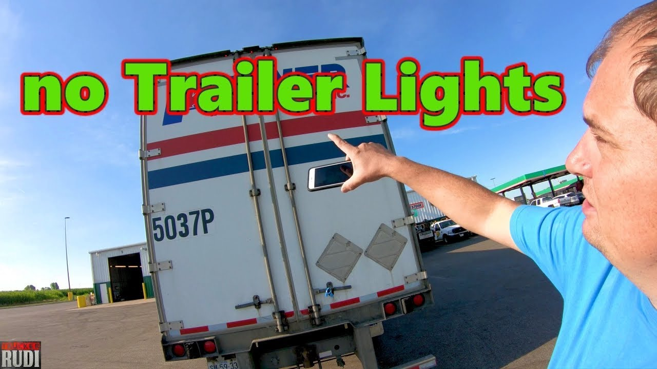 This is why you do a Pre-trip no Trailer Lights Trucker Rudi 07-11 ...