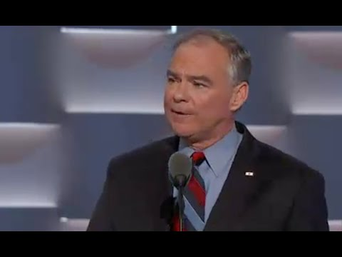 Full Tim Kaine acceptance speech - 2016 Democratic National Convention