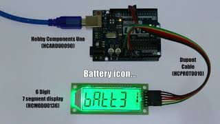 Hobby Components HT1621 6 Digit 7 Segment LCD Module Demonstrating HCDisplay Library