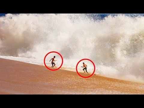 Running From MASSIVE Waves!! *DANGEROUS*