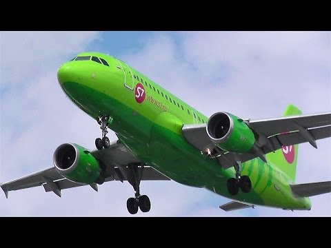 Siberia Airlines Airbus A319-114 VP-BTT approaching at Berlin Tegel Airport