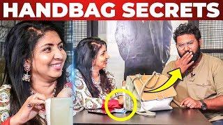 Priyadarshini's Handbag Secrets Revealed by Vj Ashiq | What's inside the Handbag