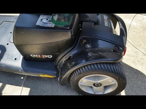 Mobility scooter charger and battery inspection