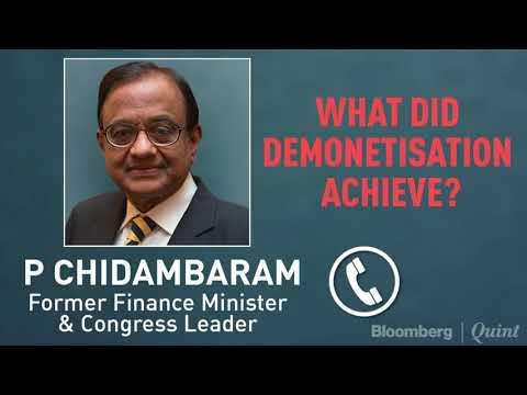 What Did Demonetisation Achieve? In Conversation With P Chidambaram