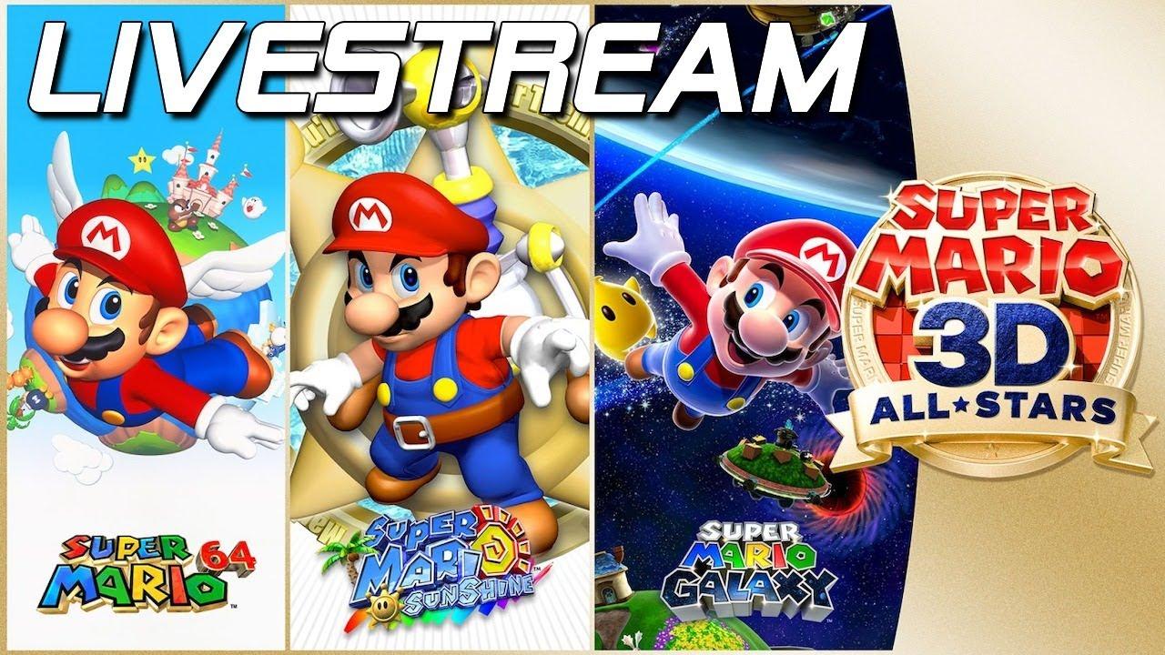🔴 Super Mario 3D All-Stars - Livestream zum Launch!