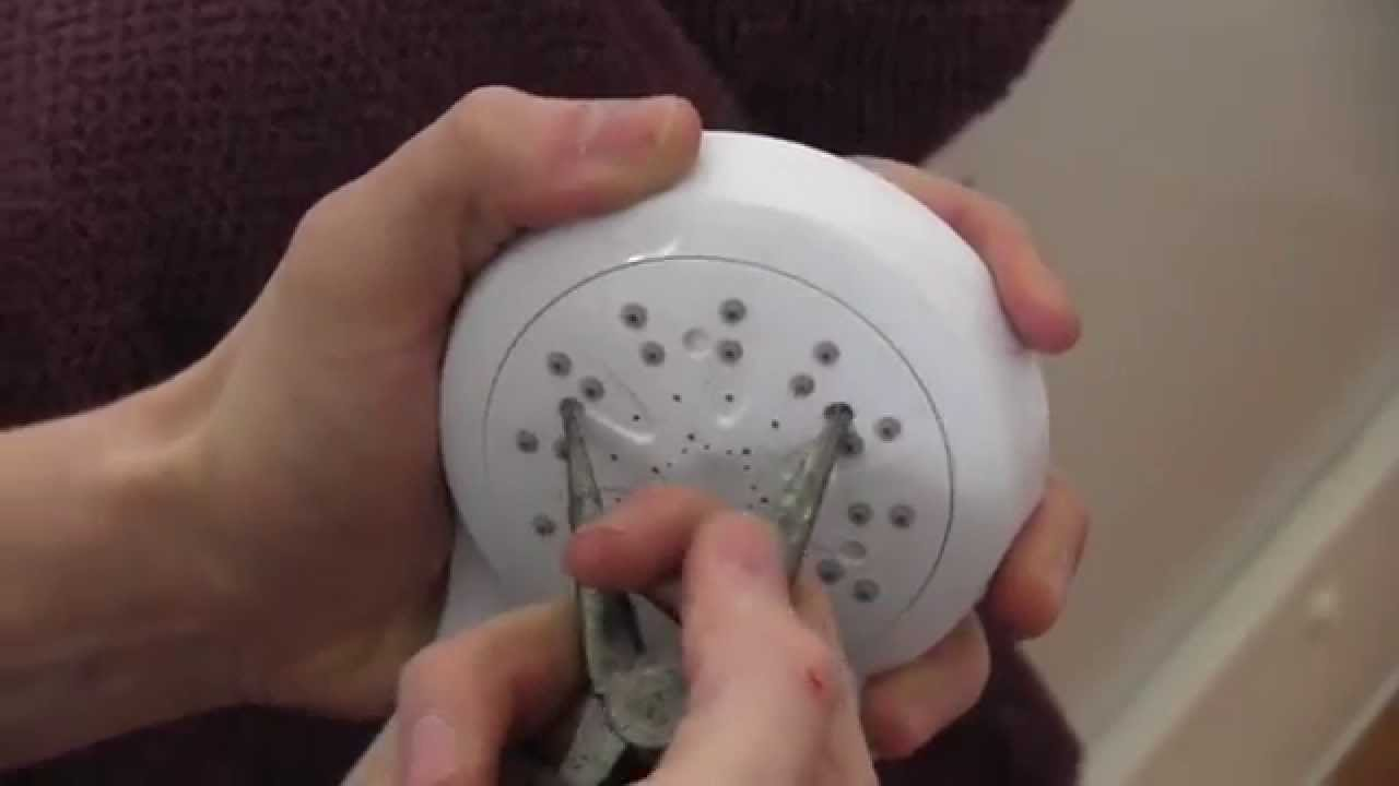 How to clean your shower head  YouTube