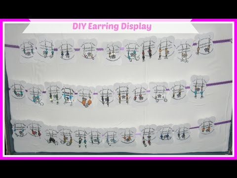 How to Make Your Own Earring Display Cards for Cheap/ DIY Earring Cards