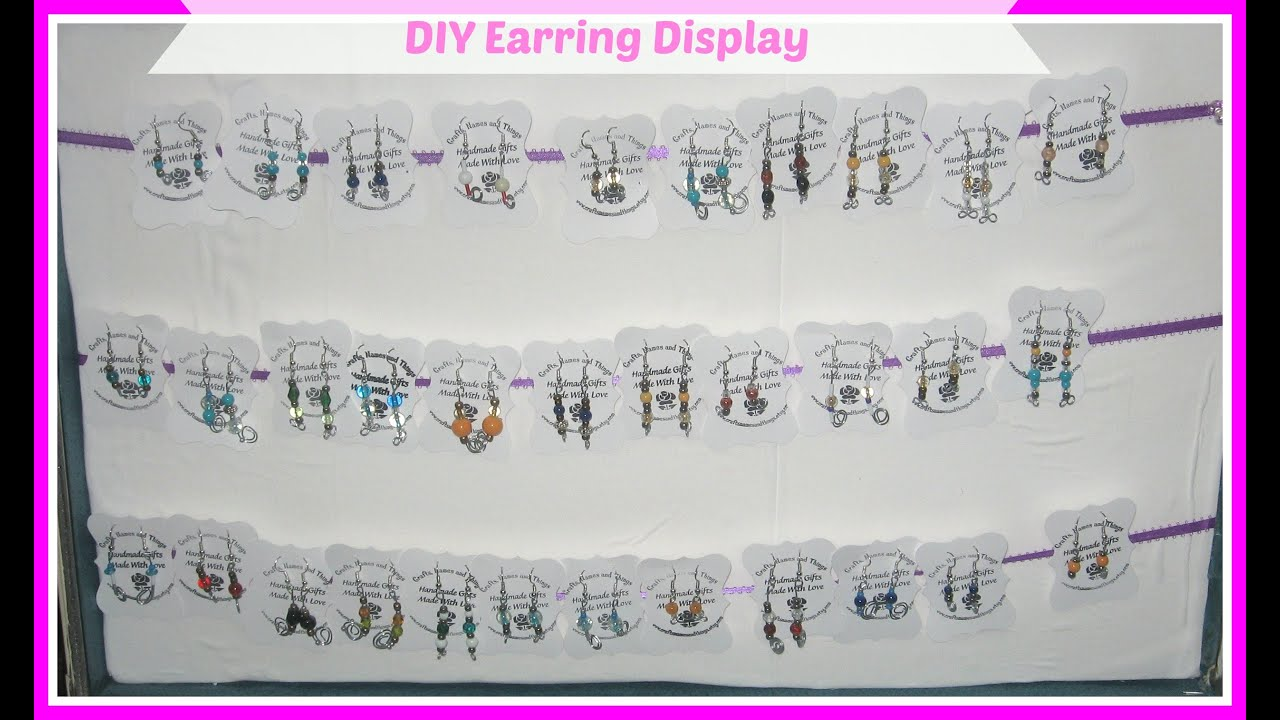 How To Make Your Own Earring Display Cards For Diy You