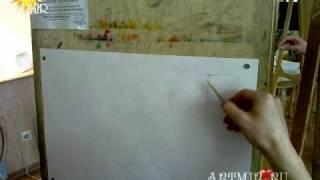 ARTMIR.RU - школа рисования. Как рисовать гипсовый куб!(Преподаватель рассказывает и показывает, как надо правильно рисовать гипсовый куб простым карандашом...., 2011-01-27T15:33:03.000Z)