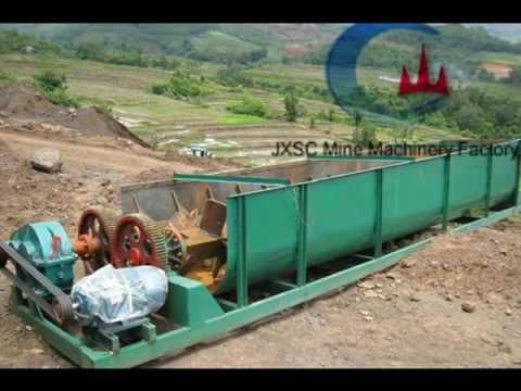 Spiral Clay Washer for alluvial ore with clay washing