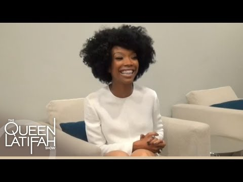 Web Exclusive: Brandy Fan Questions Interview Backstage at The Queen Latifah Show