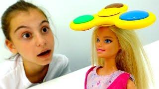 Игры Барби - трюки со спиннером. Видео для девочек