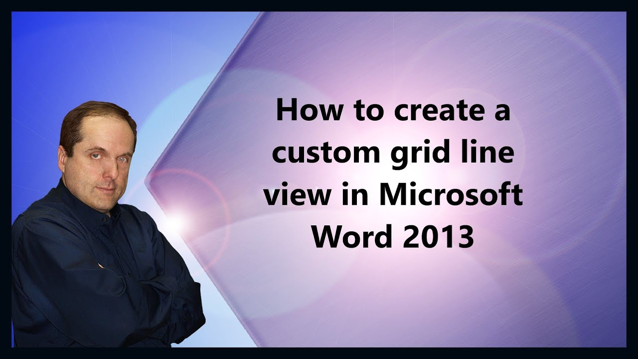 How to create a custom grid line view in Microsoft Word 2013 YouTube – Ms Word Graph Paper