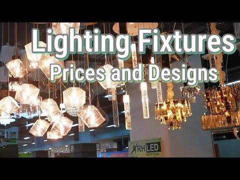 CHANDELIER AND LED LIGHTING FIXTURES: Prices and designs in the Philippines