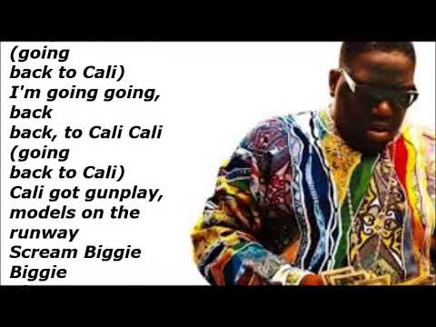 Biggie Smalls   Going Back To Cali (Lyrics Video)