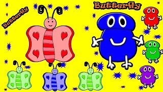 Little Baby Fun Learning Colors Shapes for Children Butterfly Wooden Toys Kids Video Baby Monster
