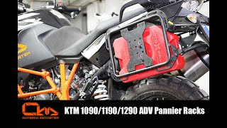 KTM 1090/1190/1290 Adventure pannier racks installation