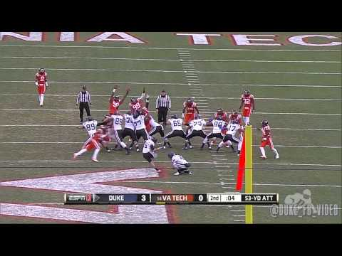Duke Football: Top Plays vs Virginia Tech (2013)