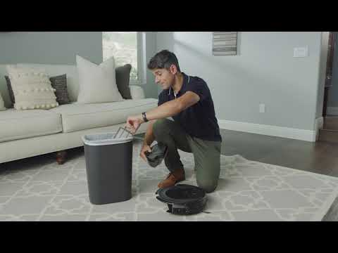 How to maintain the Shark ION™ Robot's dust bin and filter