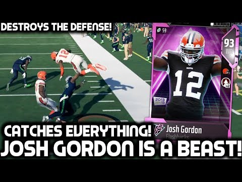JOSH GORDON CATCHES EVERYTHING & DESTROYS DEFENSES! Madden 18 Ultimate Team