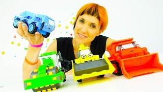 Игрушки из мультика   Машинки Боб Строитель и Маша