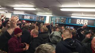 Manchester United fans away at Newcastle 4/3/15 What a feeling what a night!