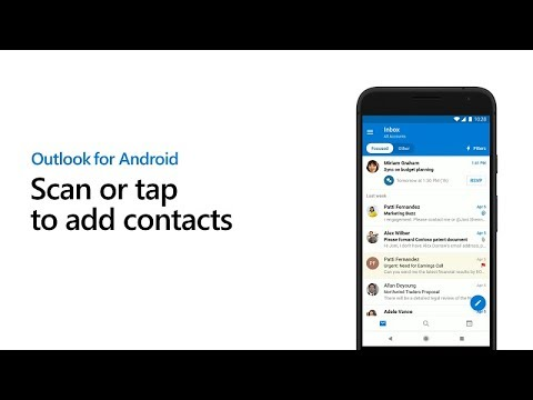 Scan business cards to easily add contacts - Outlook for Android thumbnail