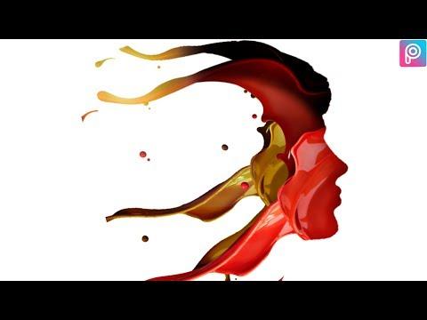 ink color splash 💦 face -picsart tutorial- EDITING