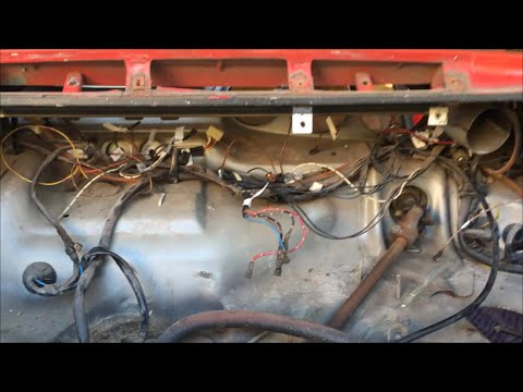 Porsche 911 Dash Panel And Gauges Wiring Harness Removal