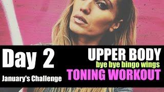 Get Rid of Bingo Wings - Upper Body Toning Workout - easy to follow and  no weights