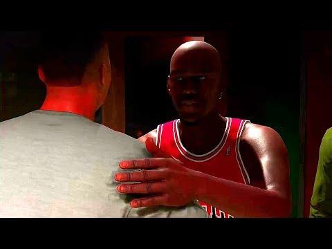 NBA 2K18 Michael Jordan Mycareer (Shaq vs Jordan Rapping In Damian Lillard Studio)