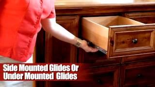 How Dresser Drawer Glides Work on Amish Furniture
