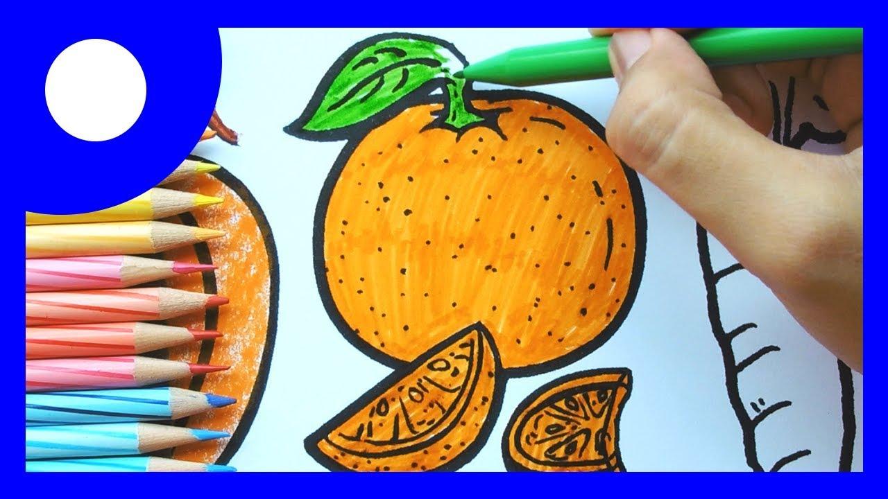 Mewarnai Buah Sayur Warna Oranye Kids Learning Colour Orange Coloring Fruit Vege
