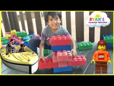 LEGOLAND rides for kids amusement park! Family Fun Playground Children Play Area! Lego Building