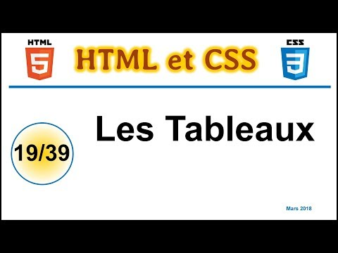 Les Tableaux En HTML Et En CSS [CHTS19]