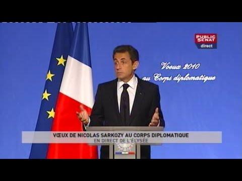 Voeux de Nicolas Sarkozy au corps diplomatique, en direct de l'Élysée - Evénement (22/01/2010)