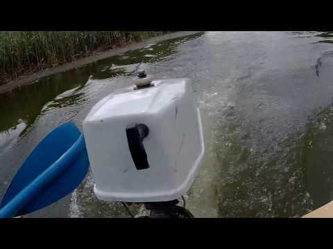 Лодочный мотор Салют (сток винт 2х лопастной) vs  Романтика