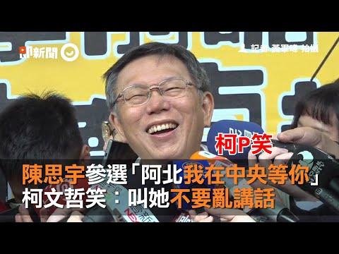 陳思宇參選「阿北我在中央等你」 柯文哲笑:叫她不要亂講話