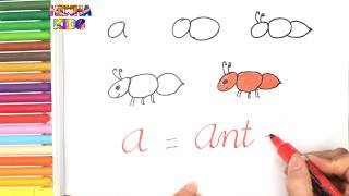 How To Draw and Color an Ant Easy Steps By Step ✅How To Teach Baby To Speak English