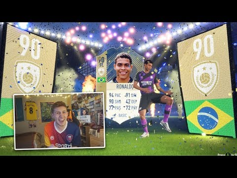 ICON R9 RONALDO IN A PACK!!!😱 - 2X GUARANTEED ICON SBC PACKS!! FIFA 18
