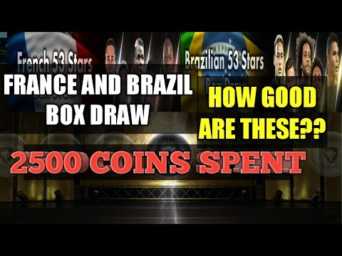 SPENDING 2500 COINS IN French and Brazilian 53 Stars Box Draw