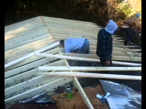 Metal Roofing Building Up Flat Roof Youtube