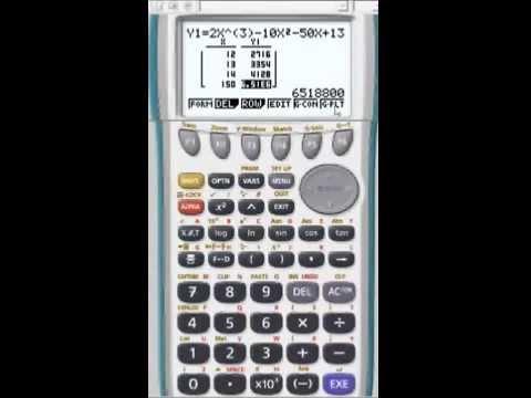 Tableau De Valeurs D Une Fonction Avec Calculatrice Casio Youtube