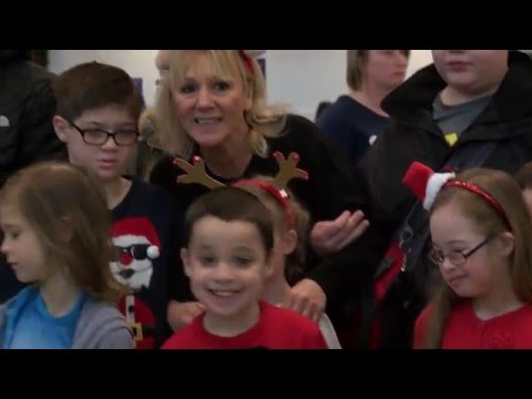 North East Children Meet Santa On Once In A Life Time Christmas Flight