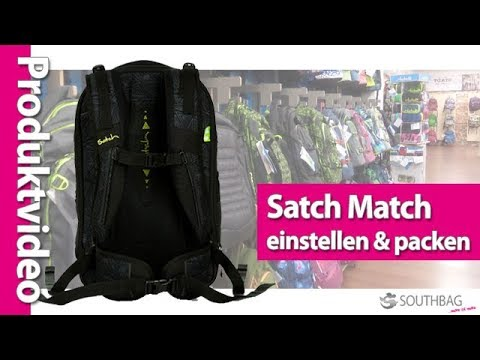 satch match schulrucksack richtig einstellen und. Black Bedroom Furniture Sets. Home Design Ideas