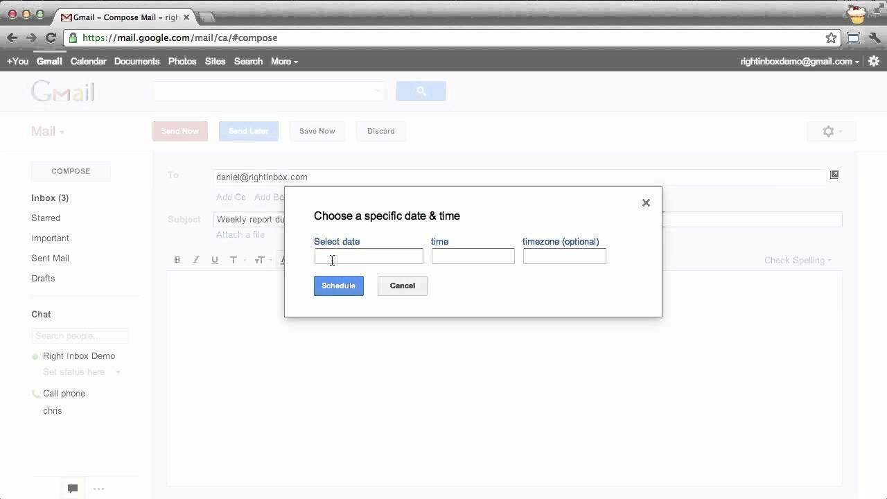 Right Inbox - Schedule Emails