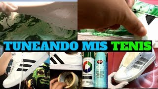 TUNEANDO MIS TENIS. CUSTOMIZE ADIDAS WITH HYDRO DIPPING