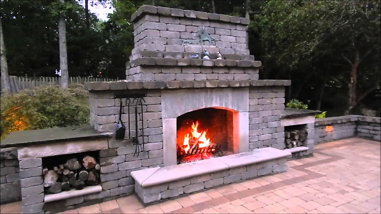 outdoor fireplace youtube