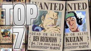 Top 7 HÖCHSTEN KOPFGELDER in One Piece!